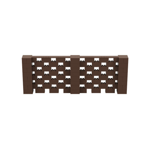 11' x 4' Brown Open Stagger Block Wall Kit