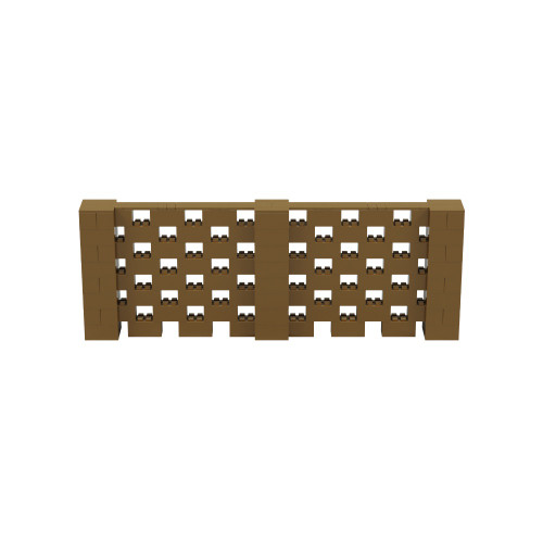 11' x 4' Gold Open Stagger Block Wall Kit