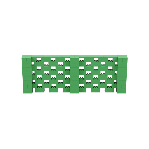 11' x 4' Green Open Stagger Block Wall Kit