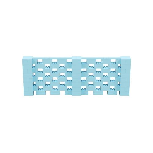 11' x 4' Light Blue Open Stagger Block Wall Kit
