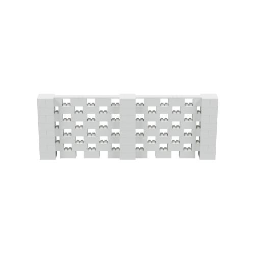 11' x 4' Light Gray Open Stagger Block Wall Kit