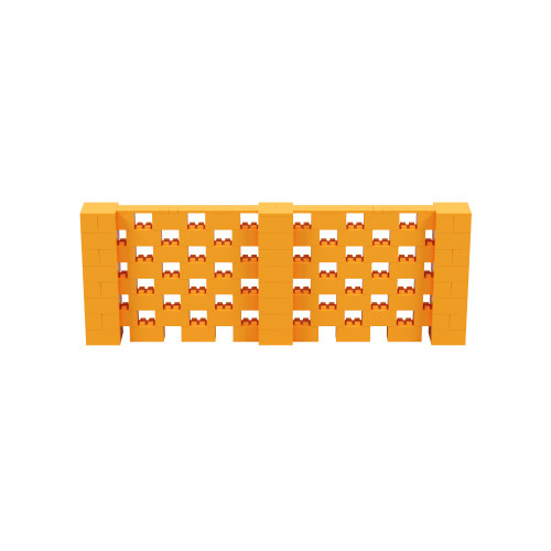 11' x 4' Orange Open Stagger Block Wall Kit