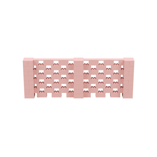 11' x 4' Pink Open Stagger Block Wall Kit