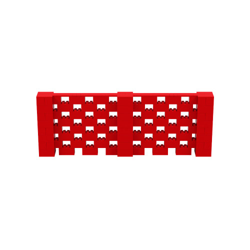 11' x 4' Red Open Stagger Block Wall Kit