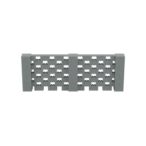 11' x 4' Silver Open Stagger Block Wall Kit