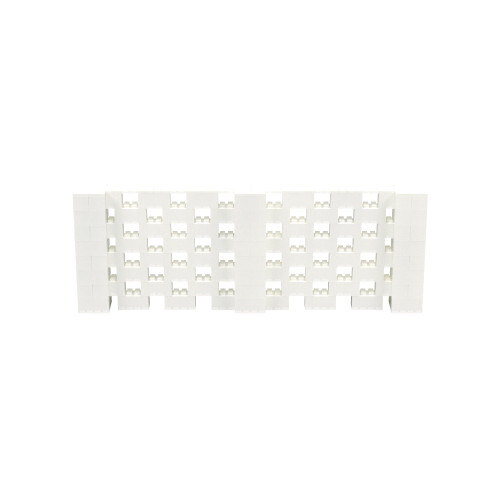 11' x 4' Translucent Open Stagger Block Wall Kit