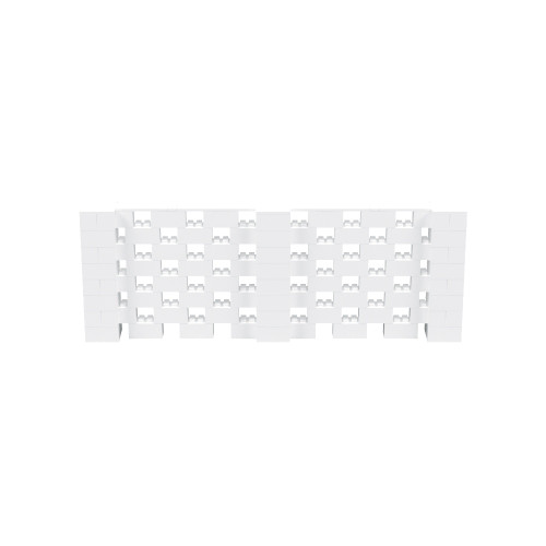 11' x 4' White Open Stagger Block Wall Kit