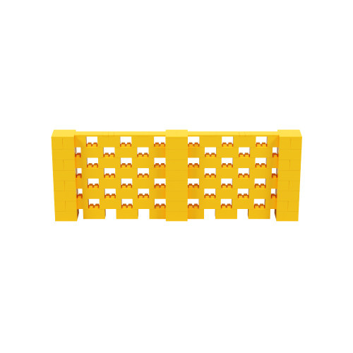 11' x 4' Yellow Open Stagger Block Wall Kit