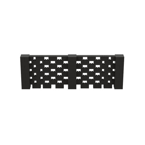 12' x 4' Black Open Stagger Block Wall Kit