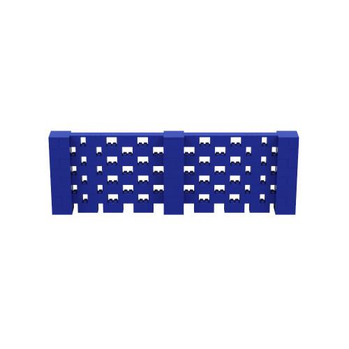 12' x 4' Blue Open Stagger Block Wall Kit