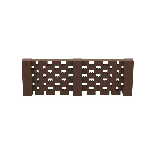 12' x 4' Brown Open Stagger Block Wall Kit