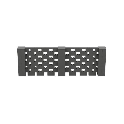12' x 4' Dark Gray Open Stagger Block Wall Kit