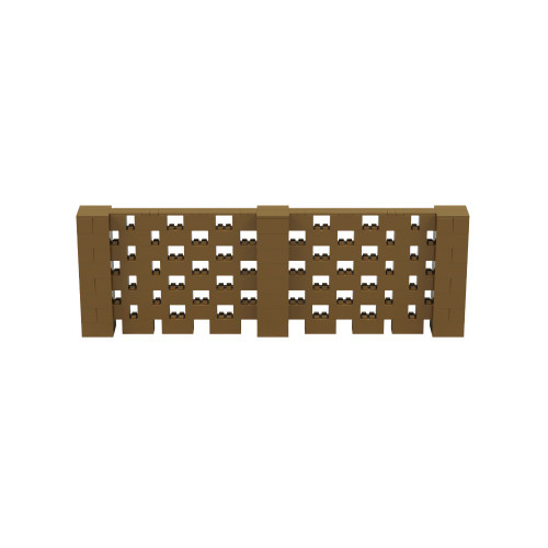 12' x 4' Gold Open Stagger Block Wall Kit