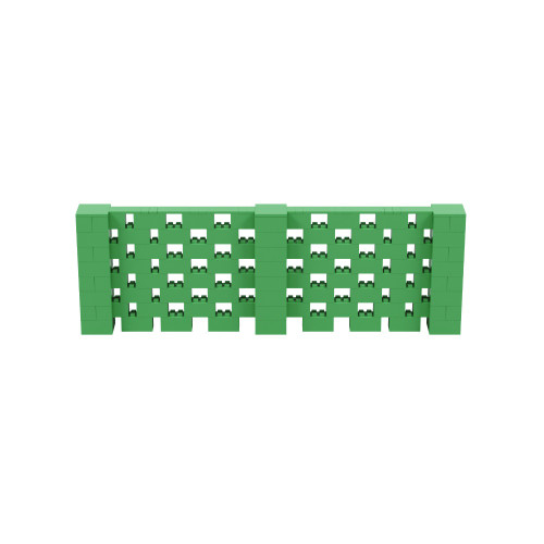 12' x 4' Green Open Stagger Block Wall Kit