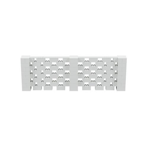 12' x 4' Light Gray Open Stagger Block Wall Kit