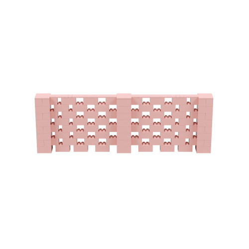 12' x 4' Pink Open Stagger Block Wall Kit