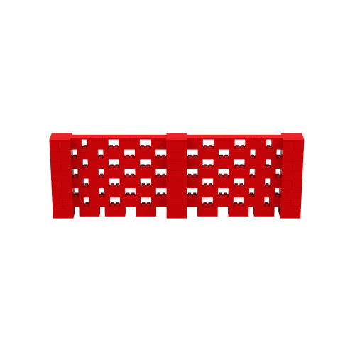 12' x 4' Red Open Stagger Block Wall Kit