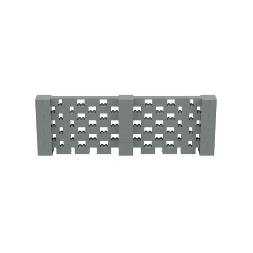 12' x 4' Silver Open Stagger Block Wall Kit