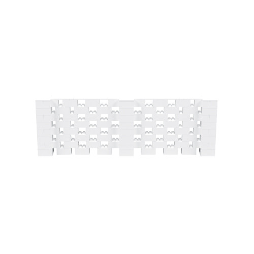 12' x 4' White Open Stagger Block Wall Kit