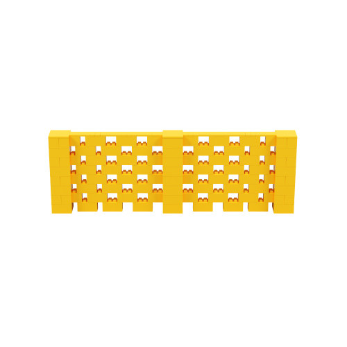 12' x 4' Yellow Open Stagger Block Wall Kit
