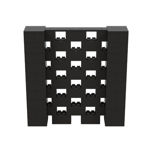 5' x 5' Black Open Stagger Block Wall Kit