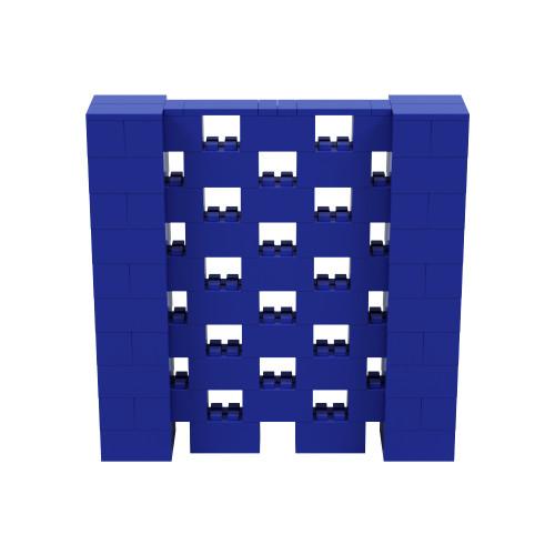 5' x 5' Blue Open Stagger Block Wall Kit