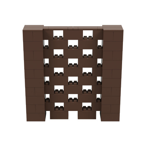 5' x 5' Brown Open Stagger Block Wall Kit