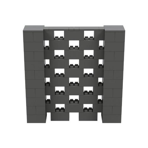 5' x 5' Dark Gray Open Stagger Block Wall Kit
