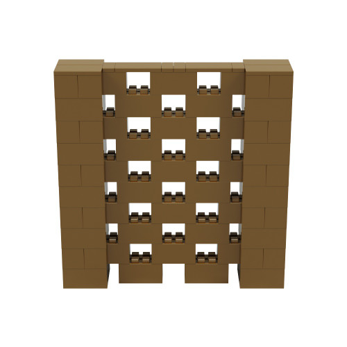 5' x 5' Gold Open Stagger Block Wall Kit