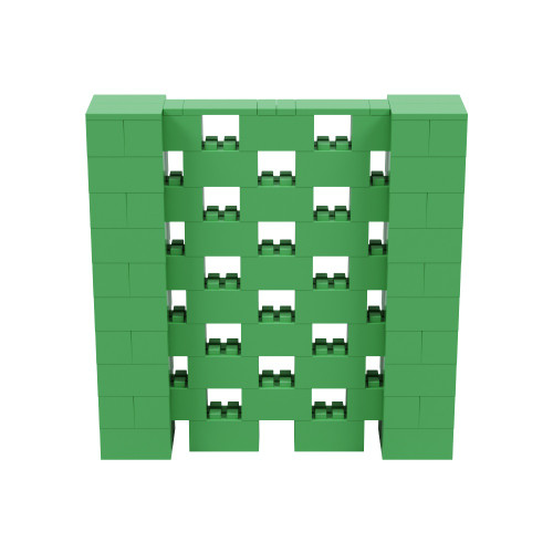 5' x 5' Green Open Stagger Block Wall Kit