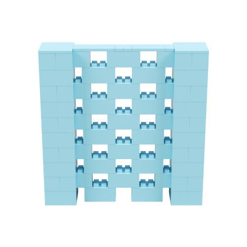 5' x 5' Light Blue Open Stagger Block Wall Kit
