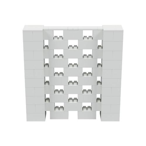 5' x 5' Light Gray Open Stagger Block Wall Kit