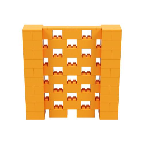 5' x 5' Orange Open Stagger Block Wall Kit