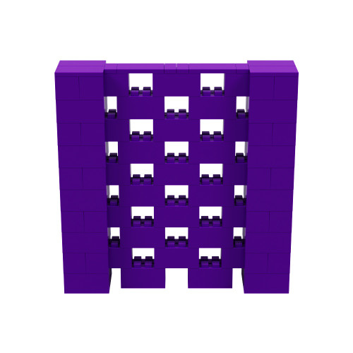 5' x 5' Purple Open Stagger Block Wall Kit