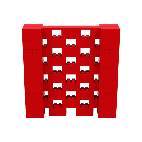 5' x 5' Red Open Stagger Block Wall Kit