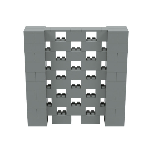 5' x 5' Silver Open Stagger Block Wall Kit