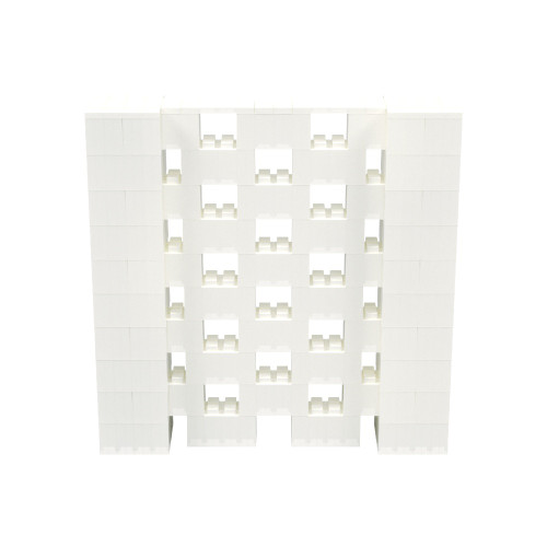 5' x 5' Translucent Open Stagger Block Wall Kit