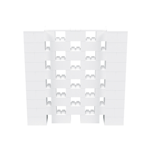 5' x 5' White Open Stagger Block Wall Kit