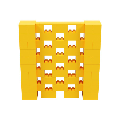 5' x 5' Yellow Open Stagger Block Wall Kit