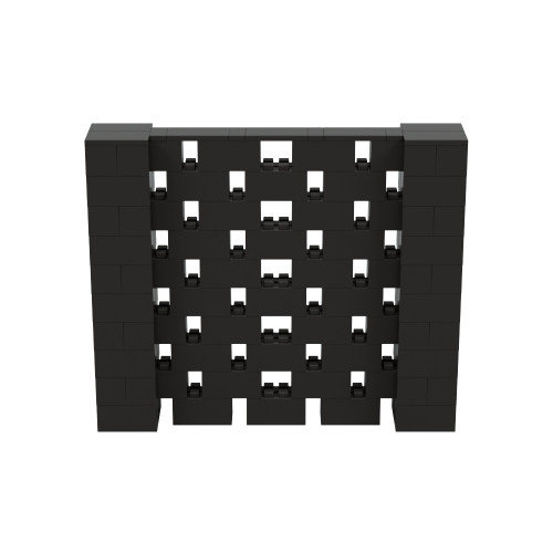 6' x 5' Black Open Stagger Block Wall Kit