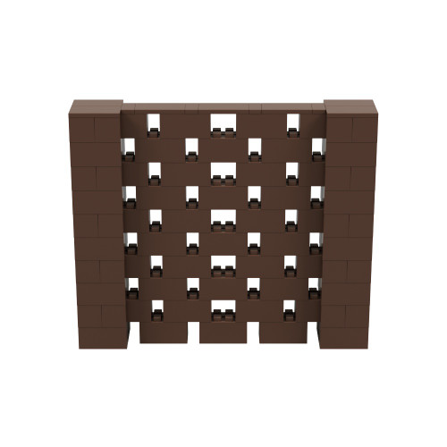 6' x 5' Brown Open Stagger Block Wall Kit