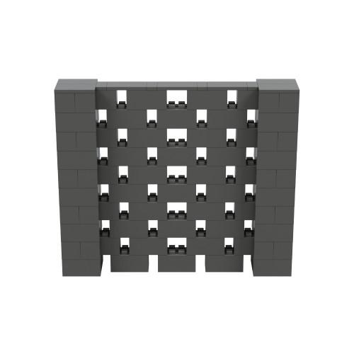 6' x 5' Dark Gray Open Stagger Block Wall Kit