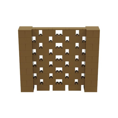 6' x 5' Gold Open Stagger Block Wall Kit