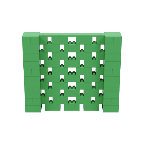 6' x 5' Green Open Stagger Block Wall Kit