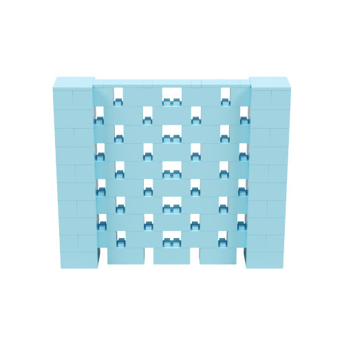 6' x 5' Light Blue Open Stagger Block Wall Kit