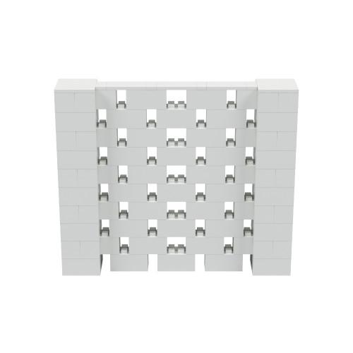 6' x 5' Light Gray Open Stagger Block Wall Kit