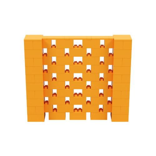 6' x 5' Orange Open Stagger Block Wall Kit