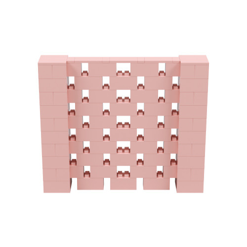 6' x 5' Pink Open Stagger Block Wall Kit