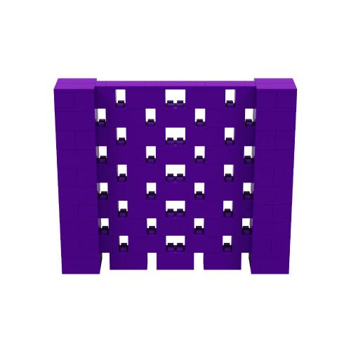 6' x 5' Purple Open Stagger Block Wall Kit