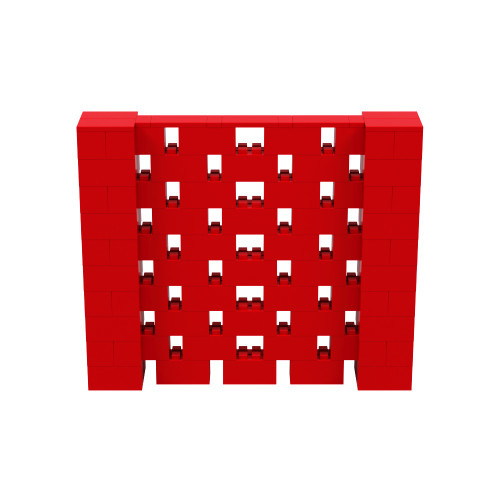 6' x 5' Red Open Stagger Block Wall Kit